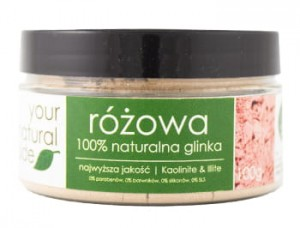 YOUR NATURAL SIDE Glinka różowa 100g