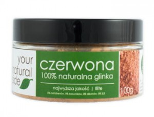 YOUR NATURAL SIDE Glinka czerwona 100% naturalna 100g